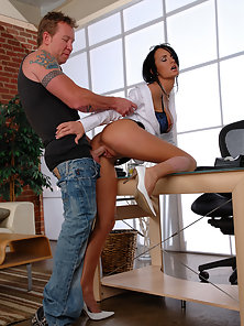 Alektra likes to suck and fuck on her office desk