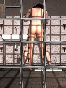3D toon babes nude in prison