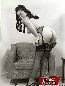 Several fifties ladies showing their perfectly shaped butts