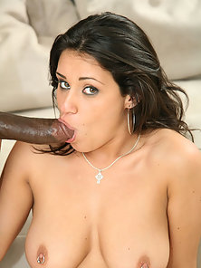 Charley Chase is a horny Latina cock sucker who goes mad for Biggz