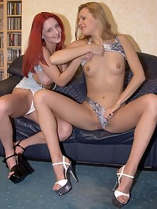 Raving pussy licking with a redhead and a blonde