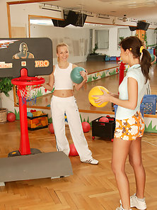 Two lesbian teenage cuties playing dirty games together