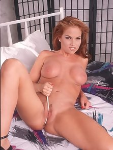 Pretty Firm Titted Redhead Playing with her Snatch