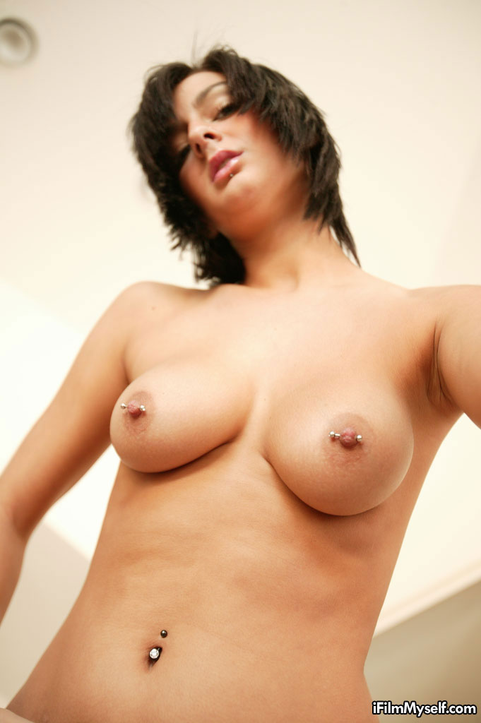 ... Presley Maddox showing her pierced nipples and clit ...