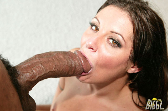 Slut takes biggest black cock