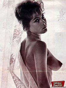 Several sexy ladies from the sixties with puffy nipples