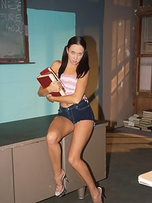 Small titted teen cutie eaten out by her teacher at school