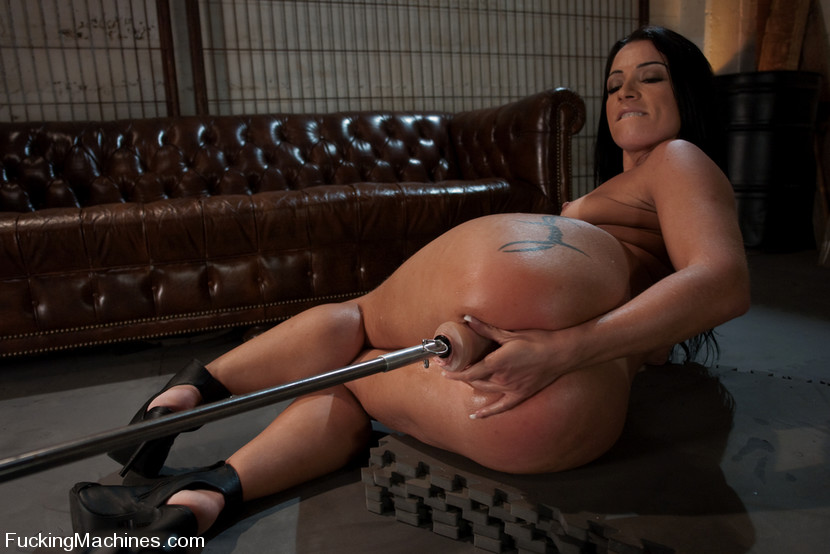 ... cums Big booty Brazilian babe, machine fucked in luscious ass with big  white dongs, ...