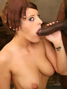 Sophie Sotto takes on 13 inch black cock and gets facial