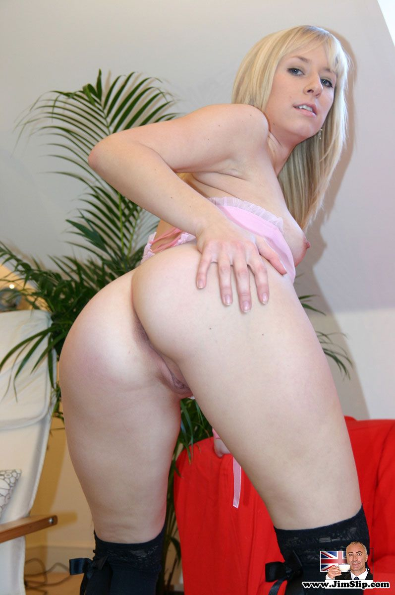 British blonde anal