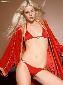 Charlotte Stokely looking hot in her golden boots