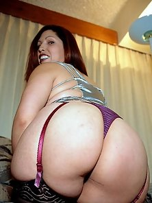 BBW in Thong Bend Over Showing Huge Fat Ass