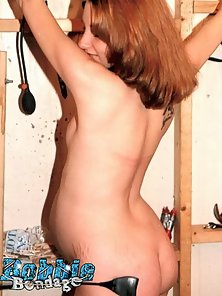 Preggo amateur gets bound and flogged in this action
