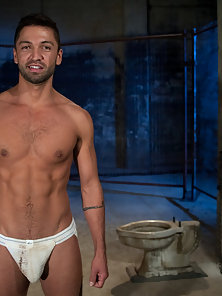 Dominic Pacifico gets tied up and fucked by machines.