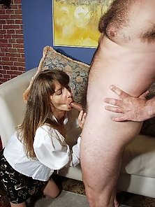 MILF sucking cock and eating hot cum