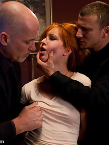 Rough sex with bondage and anal from the Debt Collectors.