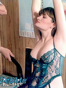 Pretty amateur flogged and spanked while wearing lingerie