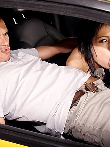 Chick publicly shagged in a car by her boyfriend hardcore