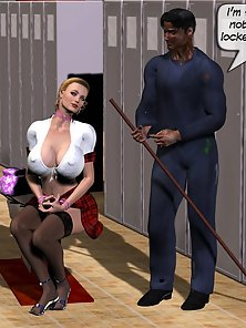 Big titted milf Gabriela spreading her petite snatch