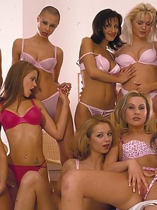 Super hot all girl orgy