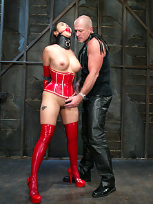 Mika Tan is no stranger to bondage as she is fucked and clamped.