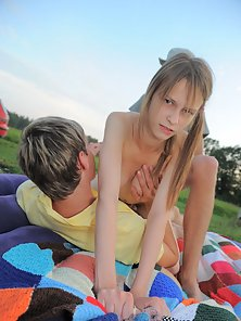 Double penetration for beautiful teen virgin