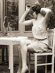 Real vintage topless chicks showing naked breasts pictures