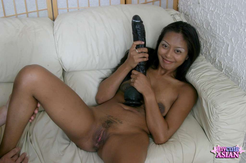Giant dildo asian