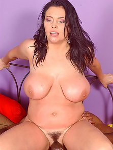 Busty white hoe Angelica Sin taking the brothas cock deep in her puss