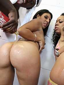 Fine Ass bitches get pounded by big fat muslim cocks.