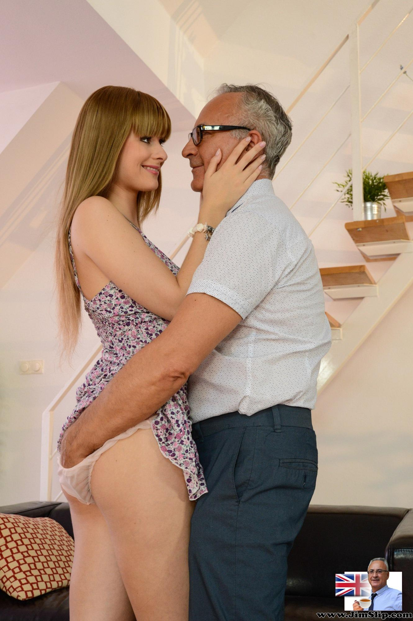 Old Man Porn Xvideos small and petite charlize takes on pervert old man jim slip