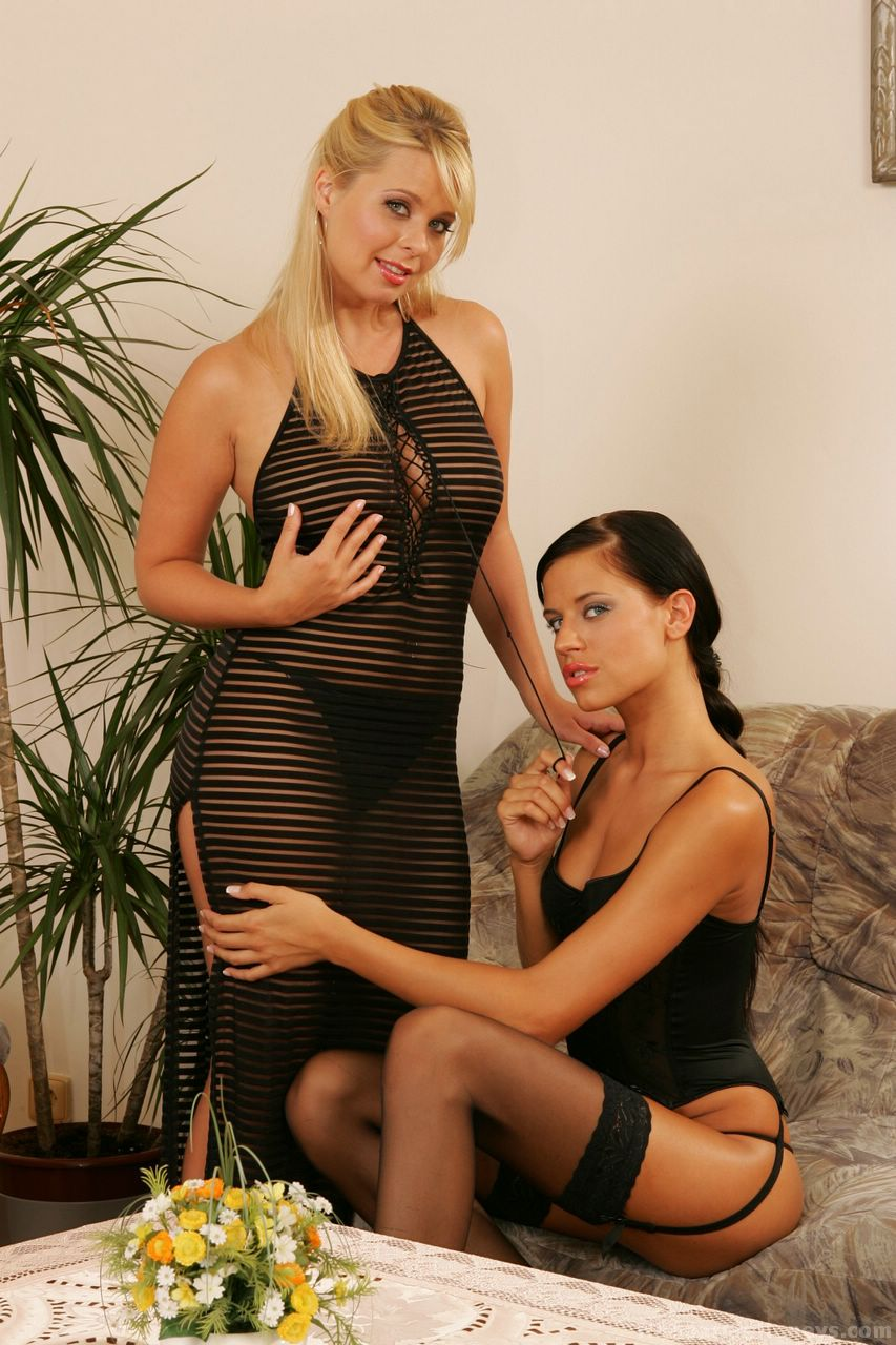 Ebony milf and daughter porn