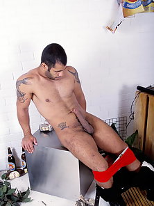 Manuel Blanco joins us for a live webcam show and goes to work stripping to show his dick