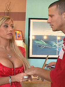 Horny Milf Regan Anthony Gags On Man Meat Then Gets Twat Slammed