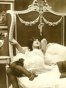 Several brunette ladies from the twenties showing it all