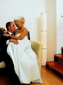 Bride and groom enjoy penetrating