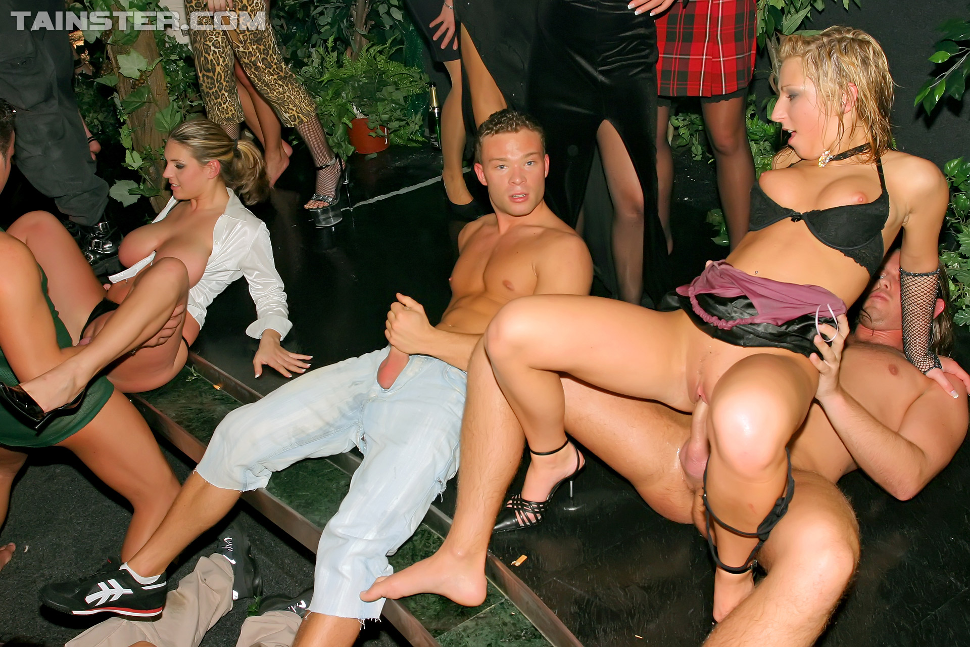 Amateur club orgy and crazy sex party summer pool party