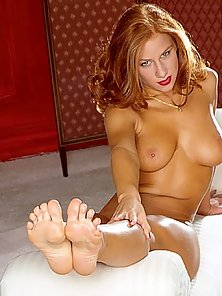 Gorgeous Blonde Bombshell Showing Off Perfect Feet