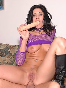 Dillan Lauren takes on a dick and dildo