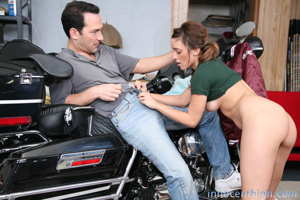 On motorcycle blowjob a