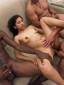 Angel is internally massaged by a dozen stiff rods.