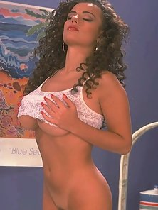 Chantilly Lace showing her tits and pussy