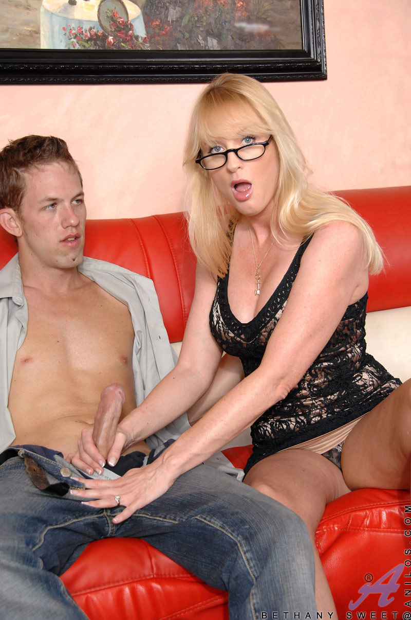 ... Mature blonde Bethany Sweet enjoys every moment as she gets banged by a  hot stud ...