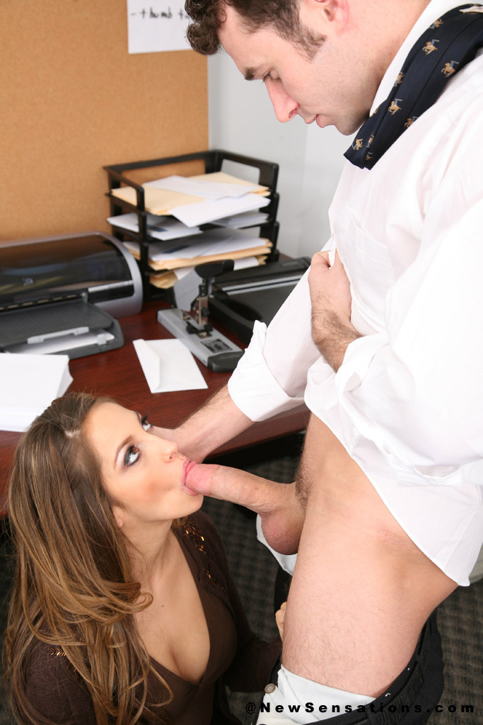 Work turns to blowjob