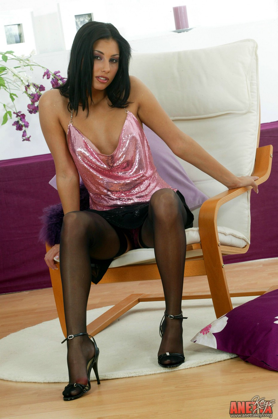 Anetta keys black stockings