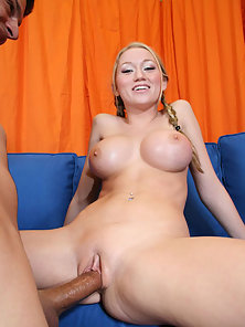Flirty young Madison rides a huge cock