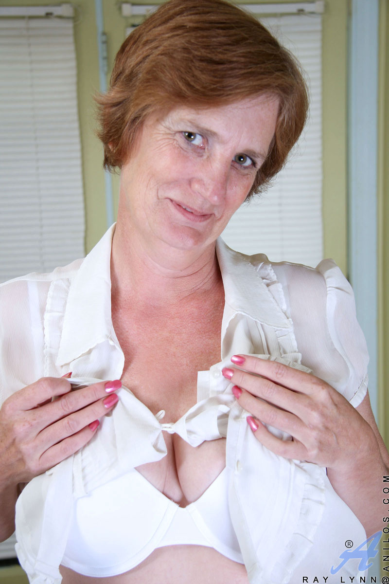 naughty executive granny takes a quick break to strip off her