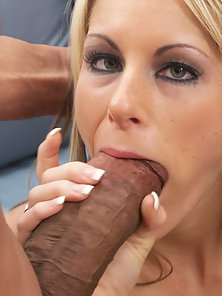 Courtney licking lovers black baloney bags