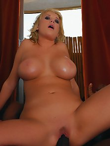 Tight little busty chick Carly Parker taking a fat black cock