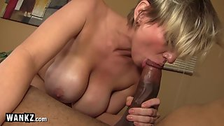 WANKZ - Busty Blonde Slut Fucked By Big Black Cock!